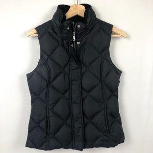 Eddie Bauer Goose Down Puffer Vest Quilted Black